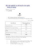 Bài tập nghiệp vụ thi tuyển vào ngân hàng (4 dạng) docx