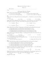 ÔN TẬP CHƯƠNG I (Đề 1) Vật lí 12 potx