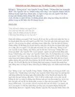 Tổng hợp các bài phân tích bài Rừng xà nu, Vợ chồng A phủ, Vợ nhặt