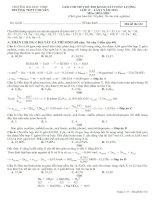 đê trắc nhiệm và bài giải chi tiết hóa học 12