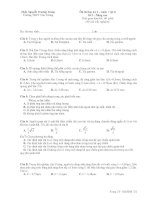 Ôn thi học kỳ 2 – môn : vật lí Đề 2 doc