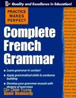 COMPLETE FRENCH GRAMMAR - part 1 docx