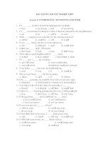 BÀI TẬP ÔN THI TỐT NGHIỆP THPT Lesson 4: CONDITIONAL SENTENCES AND WISH ppsx