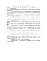 KIỂM TRA 1 TIẾT TỰ LUẬN MÔN HÓA - ĐỀ 12 pdf