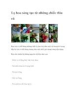 Lọ hoa sáng tạo từ những chiếc thìa cũ pdf