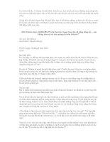 KINH DOANH TIẾP THỊ - BÀI HỌC THÀNH CÔNG TRONG NGÀNH TIẾP THỊ pptx