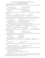 ĐỀ THI THỬ TN-ĐH NĂM 2011 MÔN: HÓA HỌC - SỐ 1 docx