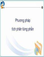Phương pháp tích phân từng phần ppt