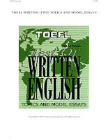 TOEFL WRITING TOPICS AND MODEL ESSAYS - PART 1 docx