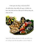 5 thói quen ăn uống có hại mùa lễ tết pdf