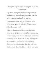 Chưa phát hiện ca bệnh chết người do bọ chó ở Việt Nam pptx