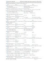 Tài liệu trắc nghiệm tổng quan ôn thi học kỳ 1 lớp 10 CB ppsx