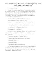 Giáo trình hướng dẫn phân tích những lỗi và cách khác phục trong mạng ảo phần 1 potx