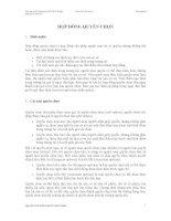 PHÂN TÍCH THỊ TRƯỜNG CHỨNG KHOÁN - HỢP ĐỒNG QUYỀN CHỌN TRONG GIAO DỊCH CHỨNG KHOÁN docx