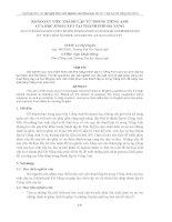 KHẢO SÁT VIỆC THÀNH LẬP TỪ TRONG TIẾNG ANH CỦA HỌC SINH CẤP 3 TẠI THÀNH PHỐ ĐÀ NẴNG pptx