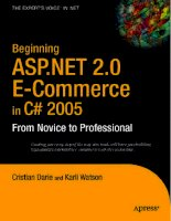 Beginning ASP.NET 2.0 E-Commerce in C# 2005 From Novice to Professional PHẦN 1 pdf