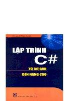 Lập trình C# từ cơ bản đến nâng cao part 1 docx
