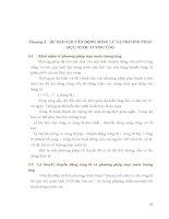 Chương 3. DỰ BÁO CHUYỂN ĐỘNG SÓNG LŨ VÀ PHƯƠNG PHÁP MỰC NƯỚC TƯƠNG ỨNG 3.1 pptx