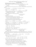 ĐỀ THI THỬ TN-ĐH NĂM 2011 MÔN: HÓA HỌC - SỐ 5 ppt