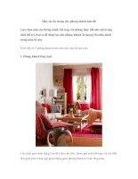 Màu sắc ấn tượng cho phòng khách mùa hè ppt