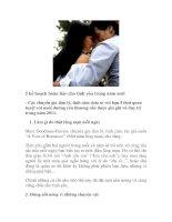 5 kế hoạch hoàn hảo cho tình yêu trong năm mới doc