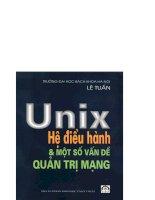 Hệ điều hành Unix và một số vấn đề quản trị mạng part 1 ppsx