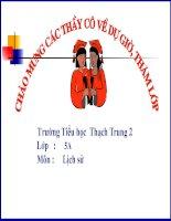 Giáo án điện tử tiểu học: Lịch sử lớp 5 pptx