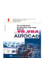 Cơ sở lập trình tự động hóa tính toán, thiết kế với VB và VBA trong môi trường Auto Cad part 1 ppt