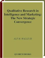 Qualitative Research in Intelligence and Marketing: The New Strategic Convergence phần 1 pdf