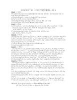 ĐỀ KIỂM TRA 15 PHÚT MÔN HÓA – ĐỀ 4 pdf