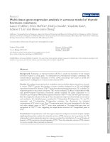 Multi-tissue gene-expression analysis in a mouse model of thyroid hormone resistance docx