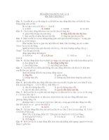 ĐỀ KIỂM TRA MÔN VẬT LÍ 12 ÔN TẬP CHƯƠNG 1 pps