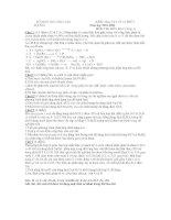 KIỂM TRA VẬT LÝ 15 PHÚT Năm học 2010-2011 MÔN THI :HÓA HỌC (vòng 1) docx