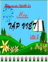 Giáo án điện tử tiểu học: Tập viết chữ hoa N ppsx