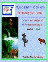 Giáo trình điện tử mầm non: Những con vật hoang dã docx