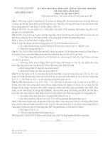 KỲ THI CHỌN HỌC SINH GIỎI LỚP 12 NĂM HỌC 2010-2011 ĐỀ THI MÔN: HOÁ HỌC (Dành cho học sinh THPT) docx