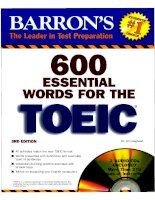 600 ESENTIAL WORDS FOR THE TOEIC - PART 1 docx