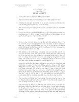 KINH TẾ VĨ MÔ - CÂU HỎI ÔN TẬP CHƯƠNG 6: THẤT NGHIỆP pptx