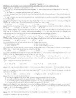 ĐỀ KIỂM TRA SỐ 13 potx