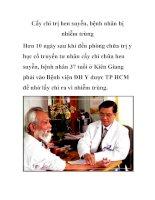 Cấy chỉ trị hen suyễn, bệnh nhân bị nhiễm trùng potx