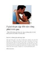 5 giai đoạn cặp đôi nào cũng phải trải qua pdf