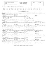 KIỂM TRA 15 PHÚT MÔN : HOÁ HỌC - NỘI DUNG Ề SỘ : 151 pps