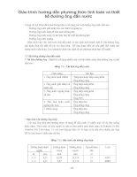 Giáo trình hướng dẫn phương thức tính toán và thiết kế đường ống dẫn nước phần 1 doc