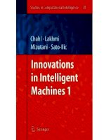Innovations in Intelligent Machines 1 - Javaan Singh Chahl et al (Eds) Part 1 ppsx