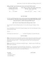 Mẫu QUYẾT ĐỊNH Về việc công bố thủ tục hành chính mới ban hành/ thủ tục hành chính được sửa đổi, bổ sung hoặc thay thế/ thủ tục hành chính bị hủy bỏ hoặc bãi bỏ thuộc thẩm quyền giải quyết của Sở pptx