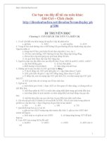 730 câu hỏi ôn tập sinh học lớp 12 potx