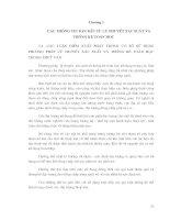 CÁC PHƯƠNG PHÁP THỐNG KÊ TRONG THUỶ VĂN - CHƯƠNG 1 doc