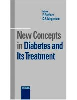 New Concepts in Diabetes and Its Treatment - part 1 ppt