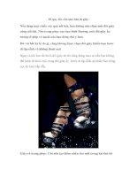 10 quy tắc cần nhớ khi đi giày pot