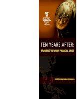 Ten Years aFTer: Revisiting the AsiAn FinAnciAl cRisis phần 1 pot